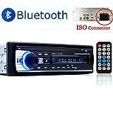 PolarLander Autoradio Bluetooth, Autoradio Bluetooth Freisprecheinrichtung, Digital Media-Receiver, Autoradio Audio USB/SD/AUX/ MP3-Player Receiver mit Fernbedienung schwarz 1 Din