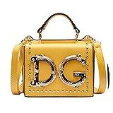 Luxuriöse, modische Handtasche mit Nieten, Umschlagtasche für Damen, Umhängetasche, Kuriertasche, Gelb - gelb - Größe: Einheitsgröße