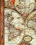 Reisetagebuch & Reiseplaner: Geschenke für Reisende zum Planen & Tagebuchschreiben von bis zu 4 Urlaube (großes Taschenbuch mit 102 Seiten) Aus unserem Antike Karte Sortiment